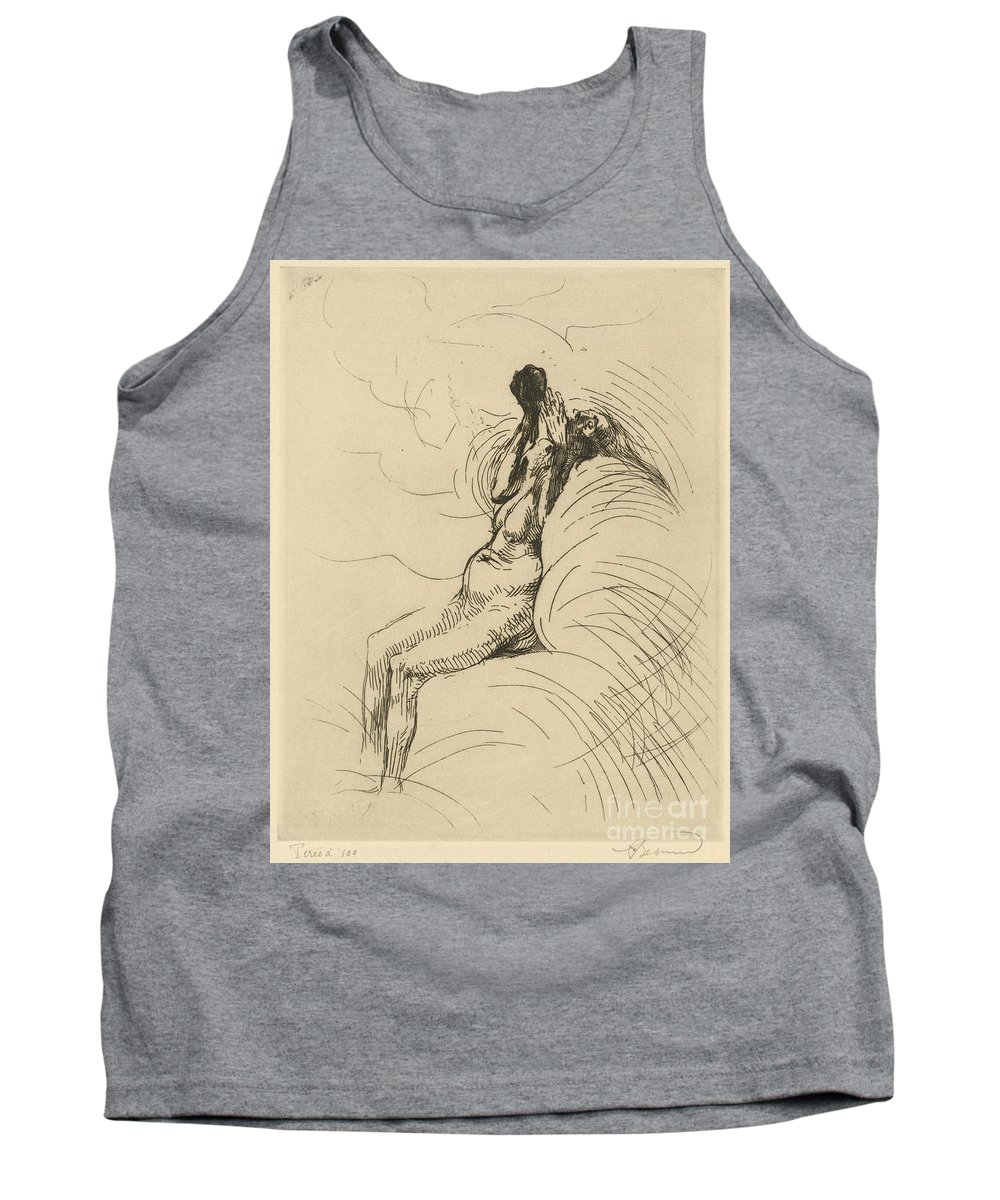 Tank Top featuring the drawing Apotheosis (l'apoth?ose) by Albert Besnard