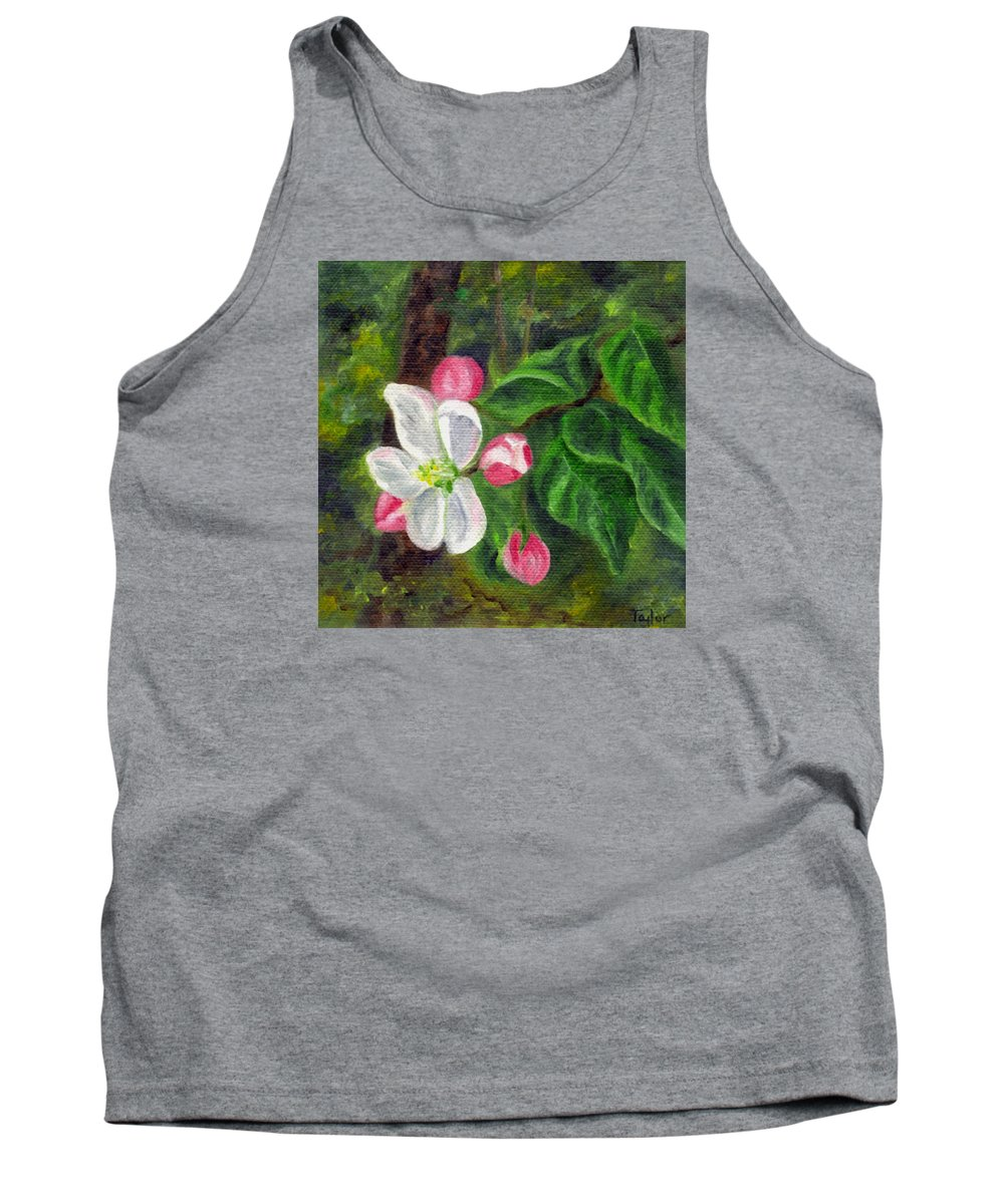 Apple Tank Top featuring the painting Apple Blossoms by FT McKinstry