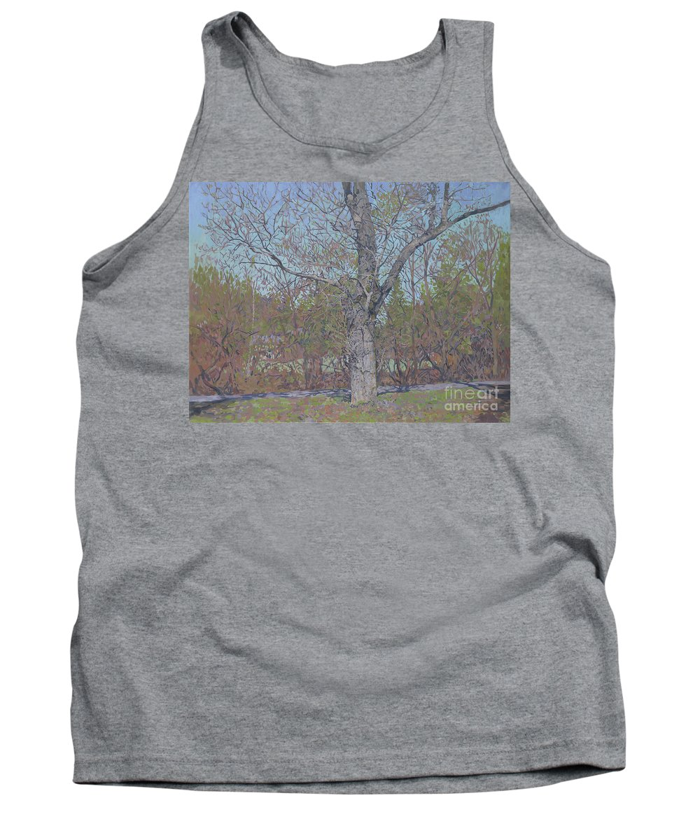April Tank Top featuring the painting April by Simon Kozhin