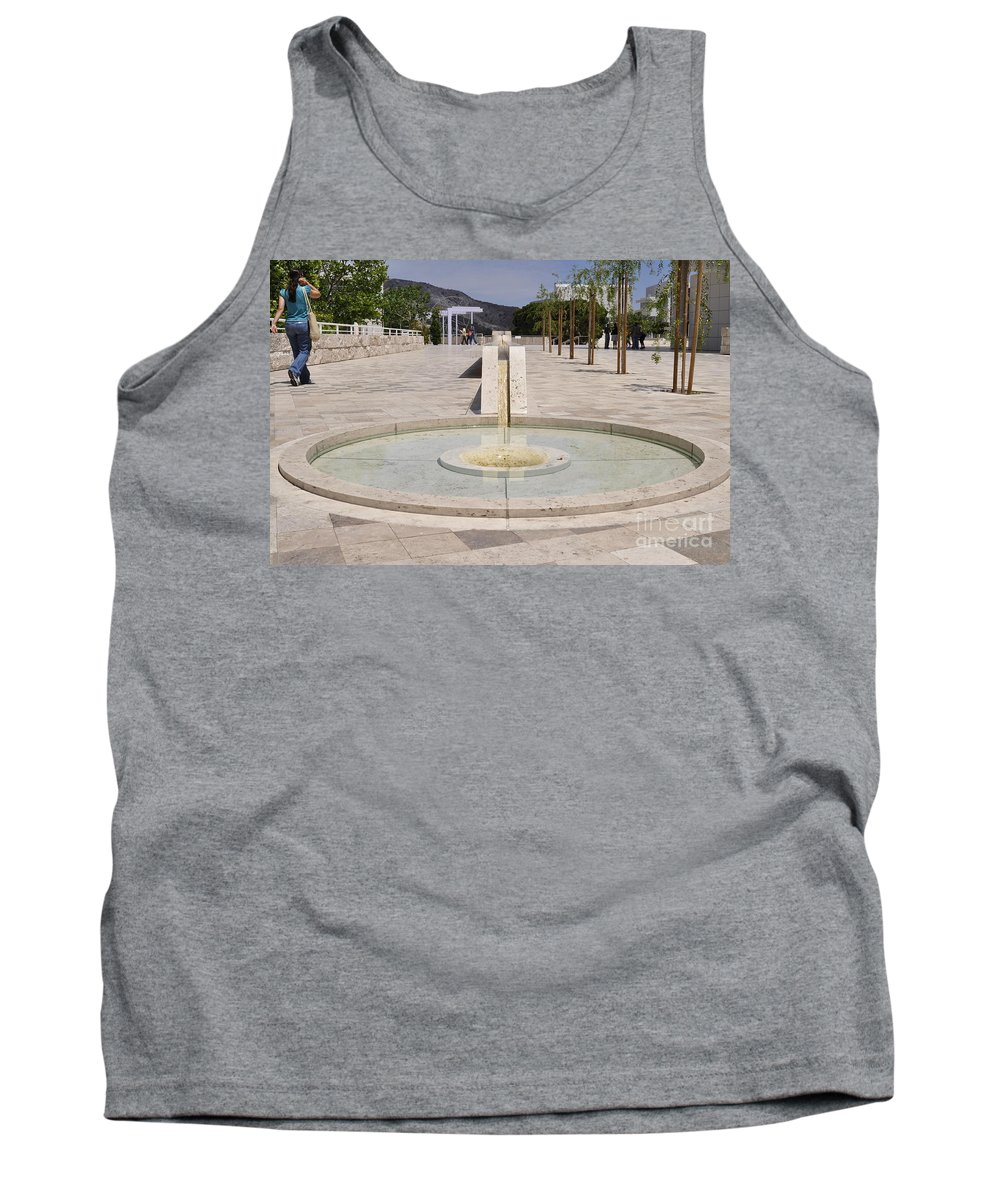 Clay Tank Top featuring the photograph Architecture At The Getty by Clayton Bruster