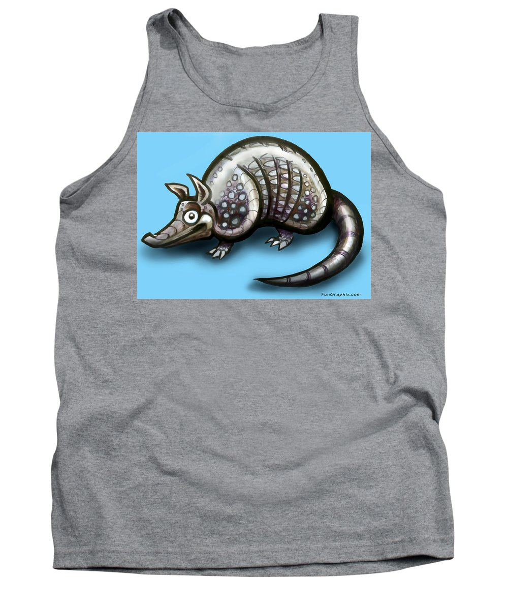 Armadillo Tank Top featuring the greeting card Armadillo by Kevin Middleton