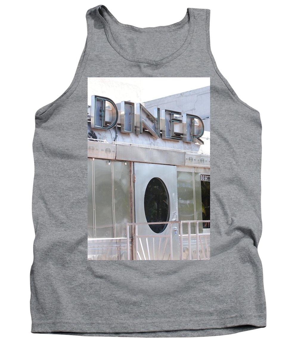 Architecture Tank Top featuring the photograph Art Deco Diner by Rob Hans