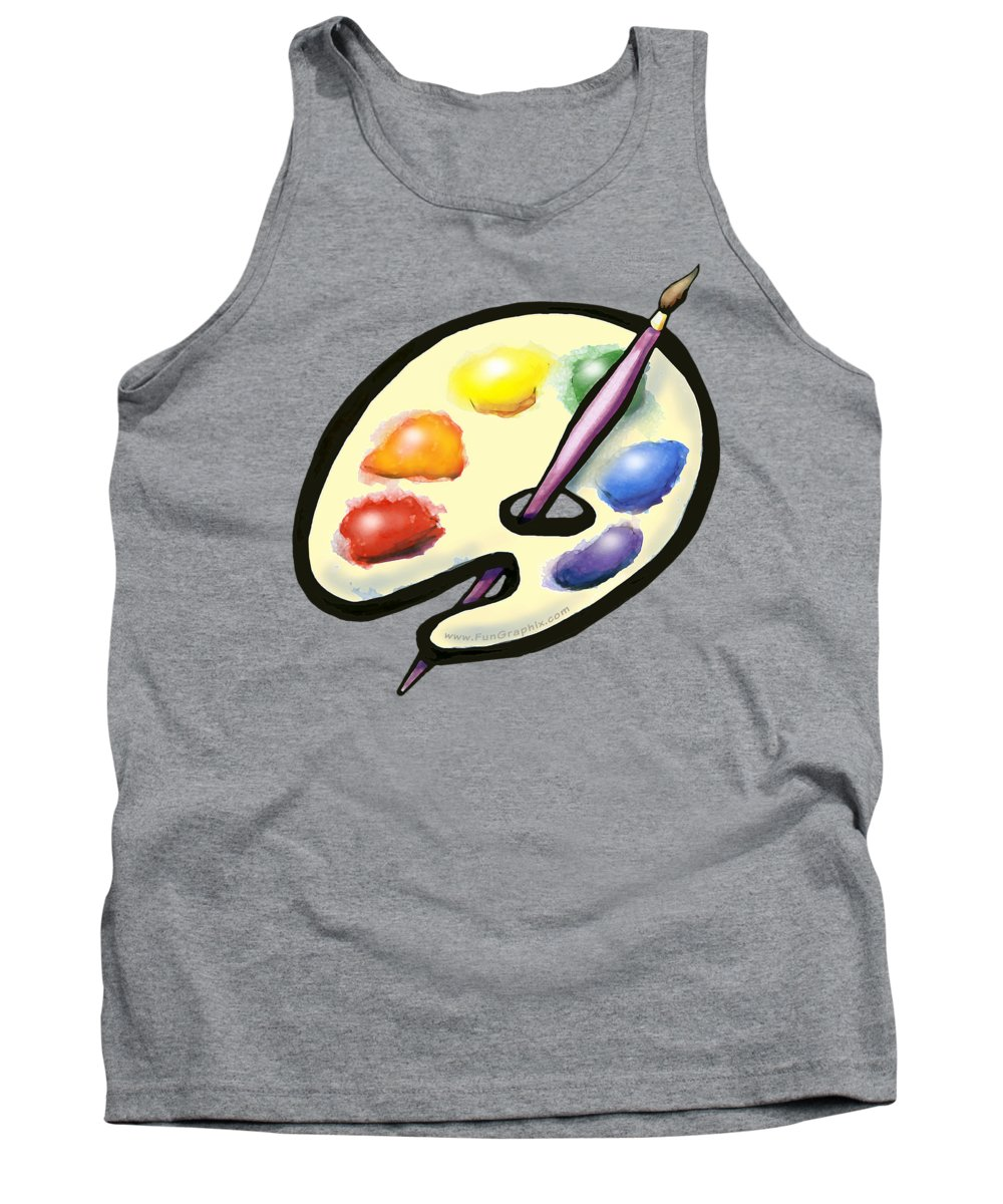 Art Tank Top featuring the digital art Art by Kevin Middleton