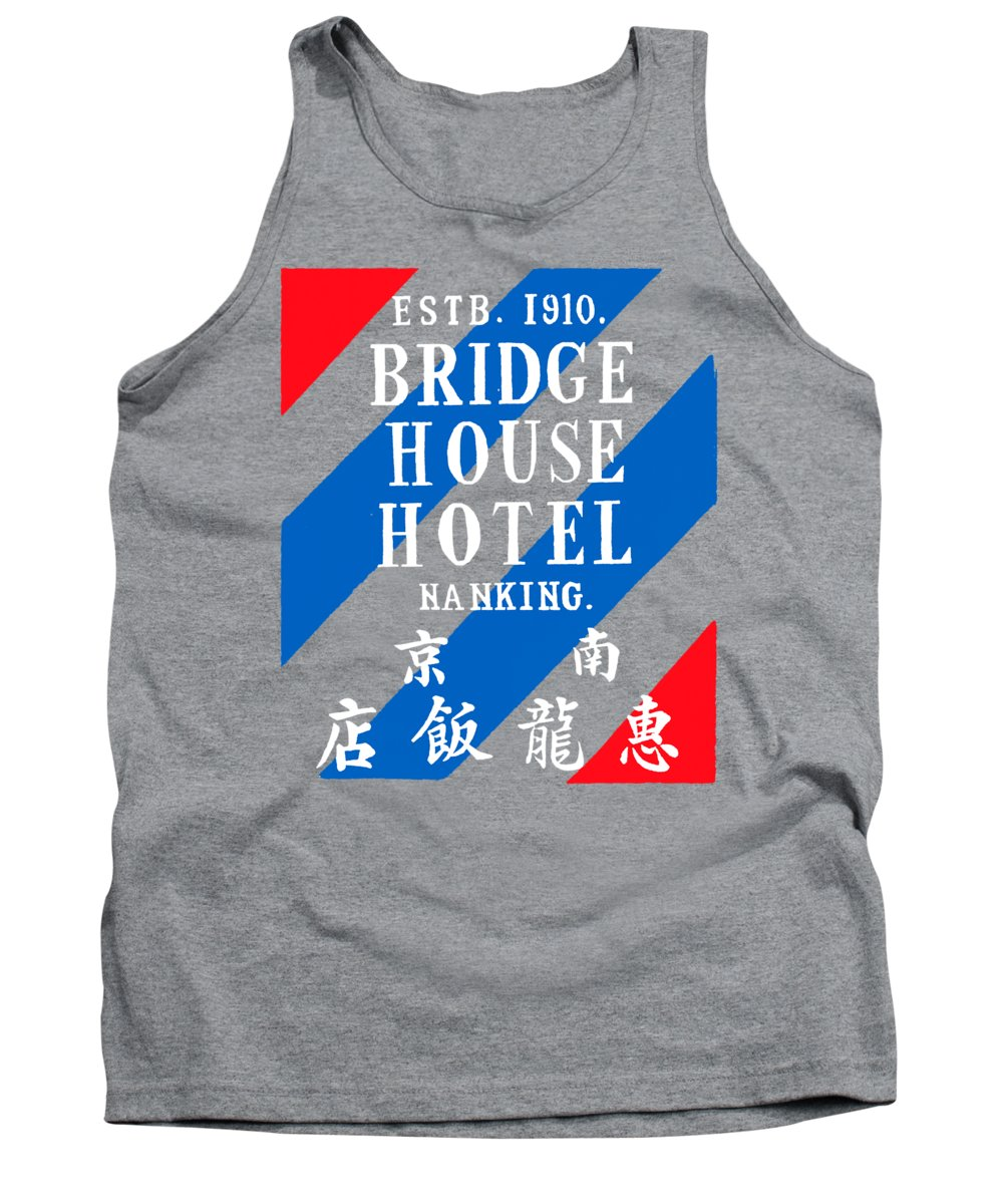 China Tank Top featuring the painting 1920 Bridge House Hotel Nanking China by Historic Image