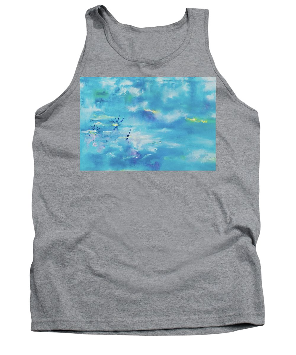 Glass Isle Series Tank Top featuring the painting As Above So Below by Dechen ART
