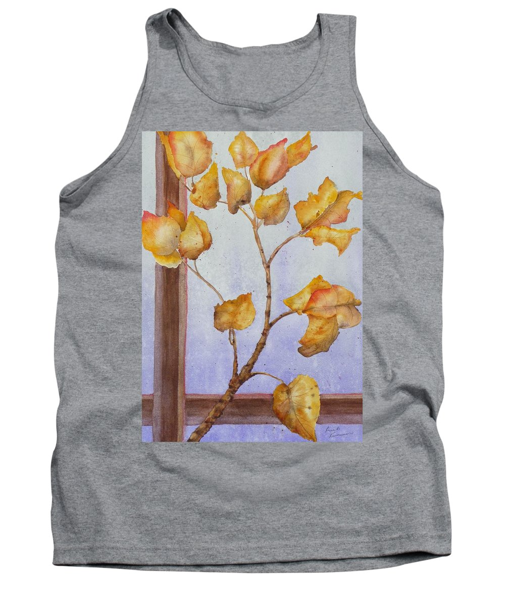 Leaves Tank Top featuring the painting Aspen by Ruth Kamenev