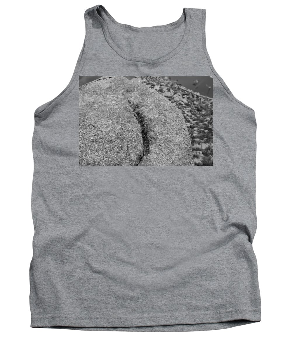 Rock Tank Top featuring the photograph Ass Crack New Mexico In Black And White by Rob Hans