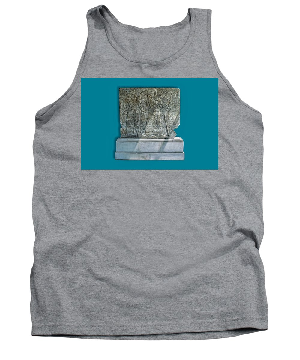 Tank Top featuring the photograph Assyrian Relief 02 by Robert Hayes