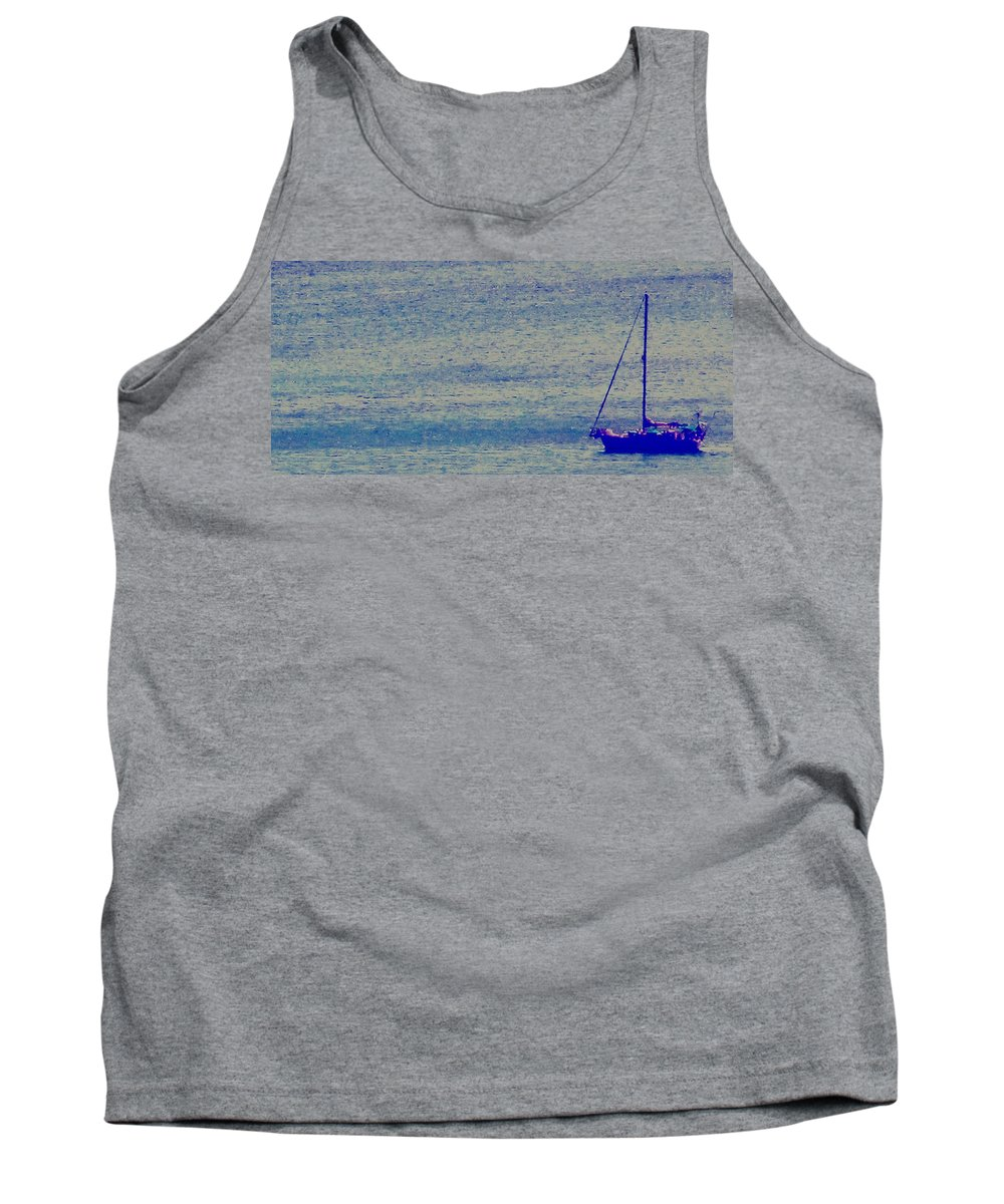 Boat Tank Top featuring the photograph At Evening Anchor by Ian MacDonald