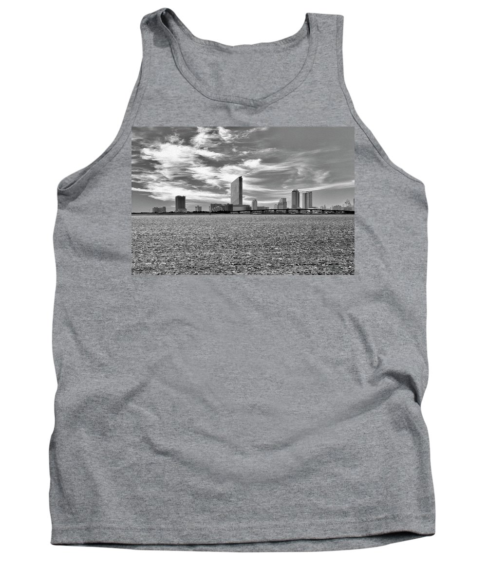 Atlantic City Tank Top featuring the digital art Atlantic City by Christopher Eng-Wong