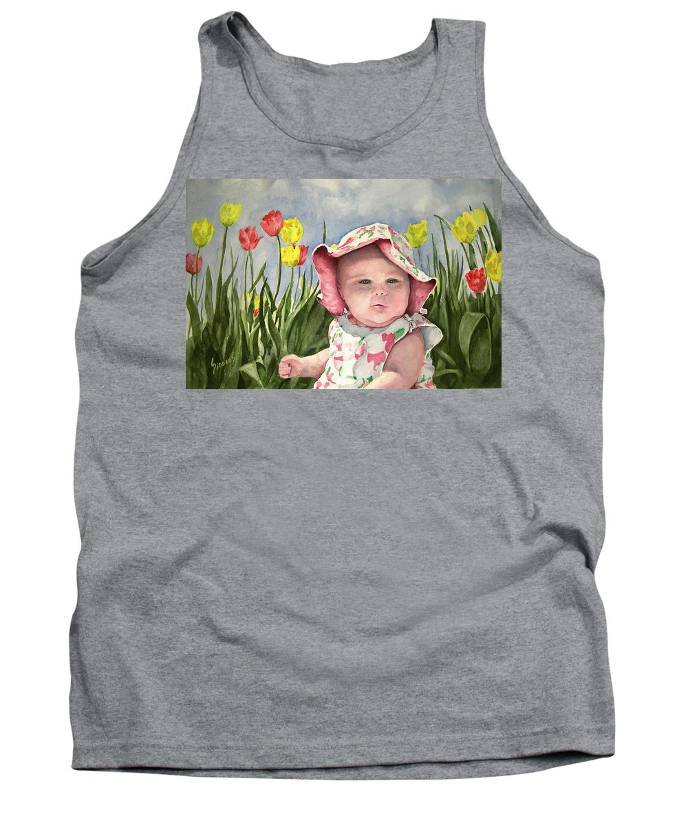 Kids Tank Top featuring the painting Audrey by Sam Sidders