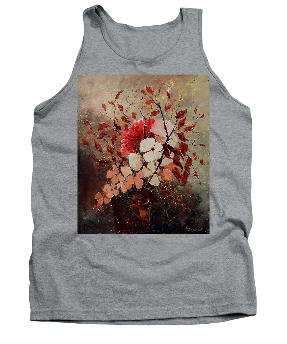 Flowers Tank Top featuring the painting Autumn Bunch by Pol Ledent