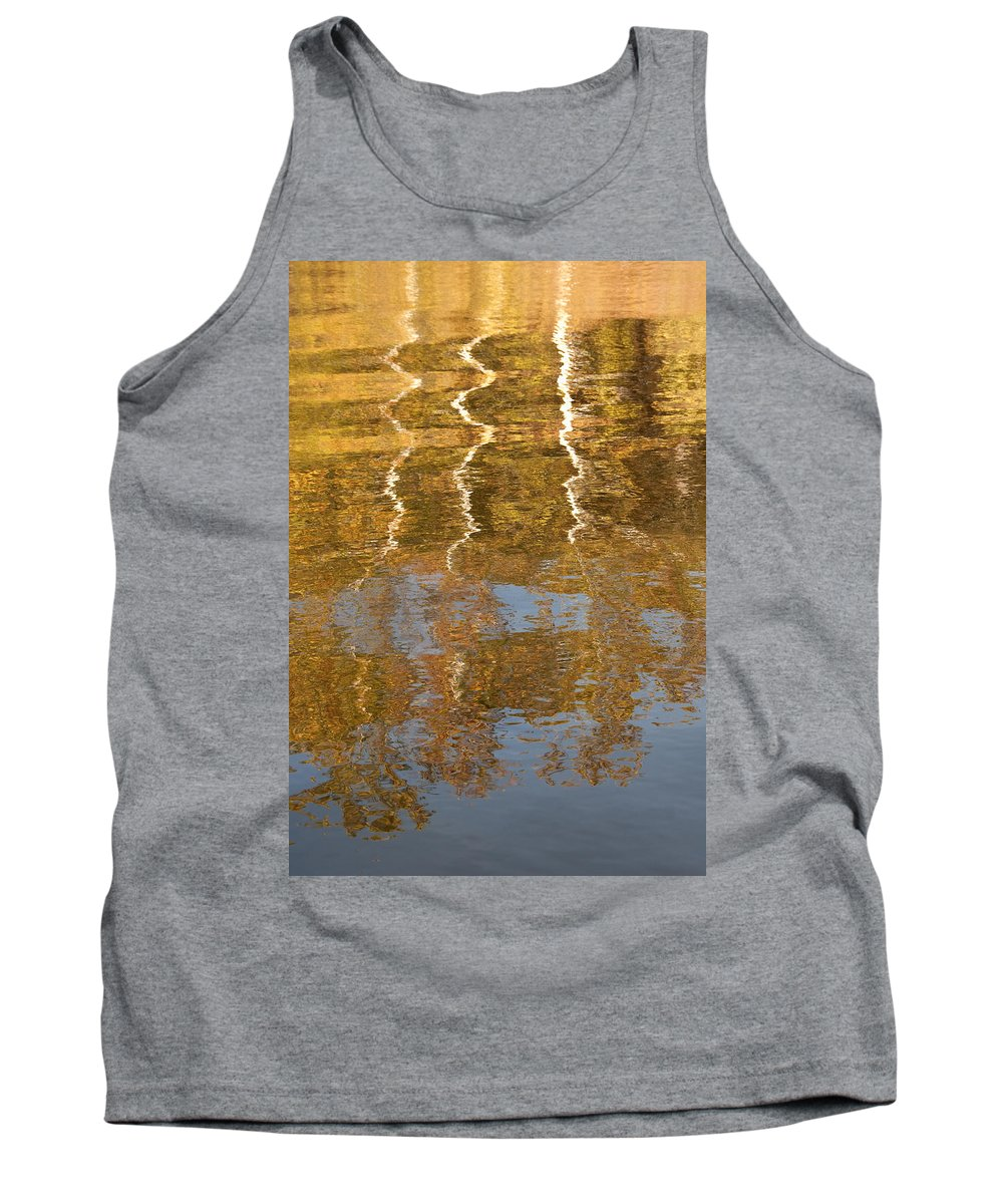 Foliage Tank Top featuring the photograph Autumn Gold by Mitch Spence