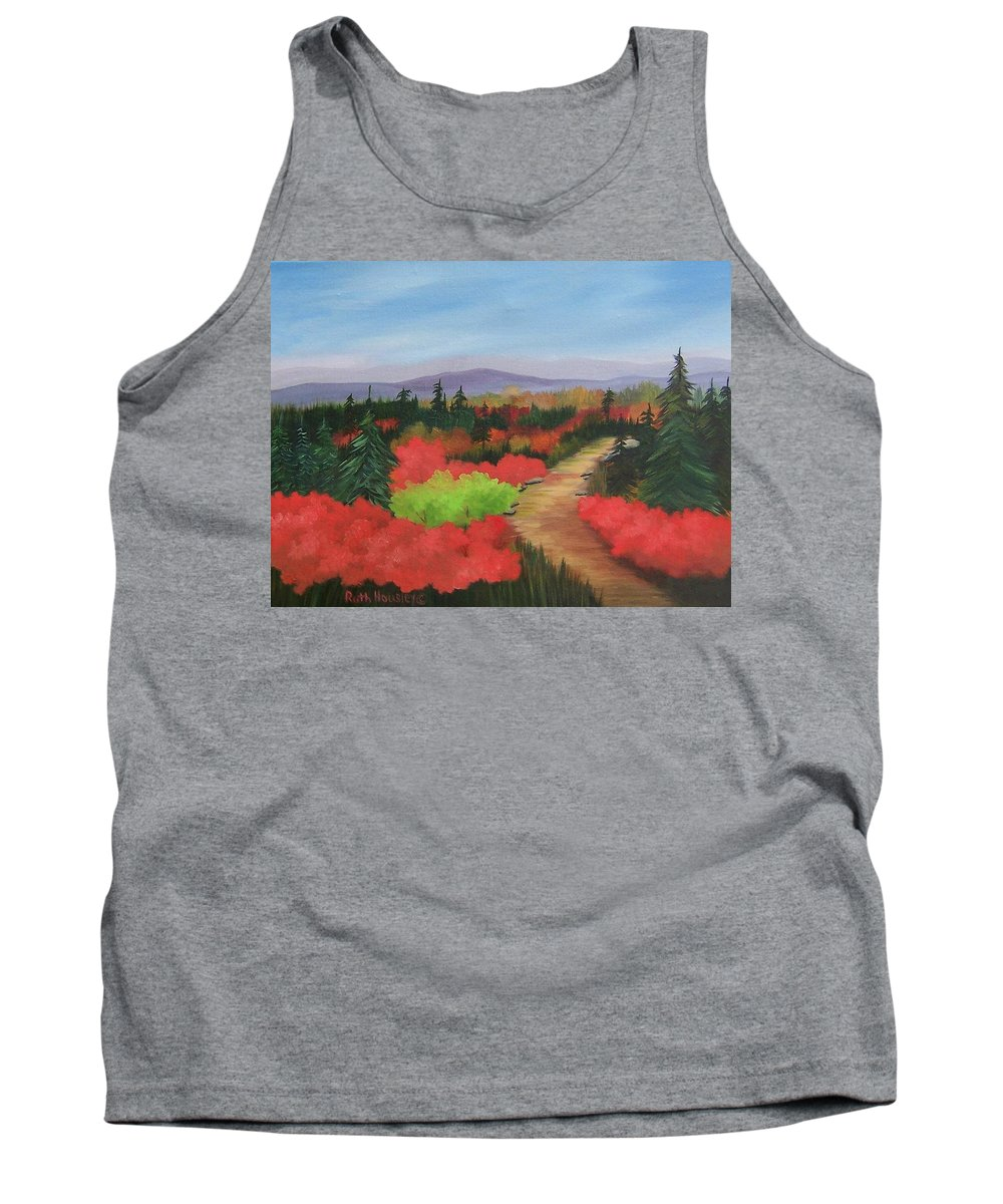 Landscape Tank Top featuring the painting Autumn On Dolly Sods by Ruth Housley