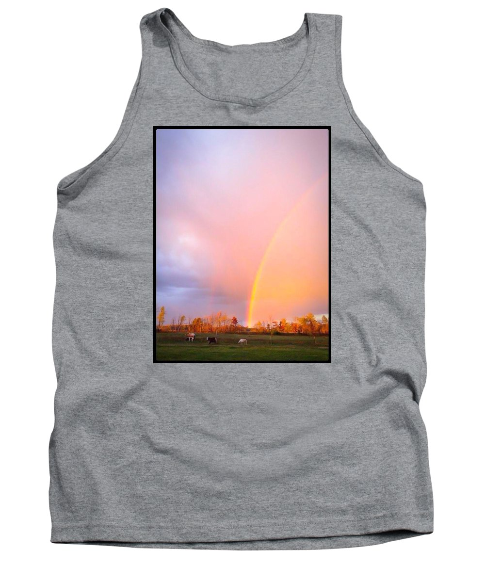 Rainbow Tank Top featuring the photograph Autumns Glory by Karen Dzielsky