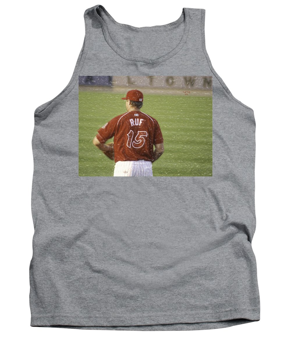 Baseball Tank Top featuring the photograph Babe Ruf by Trish Tritz