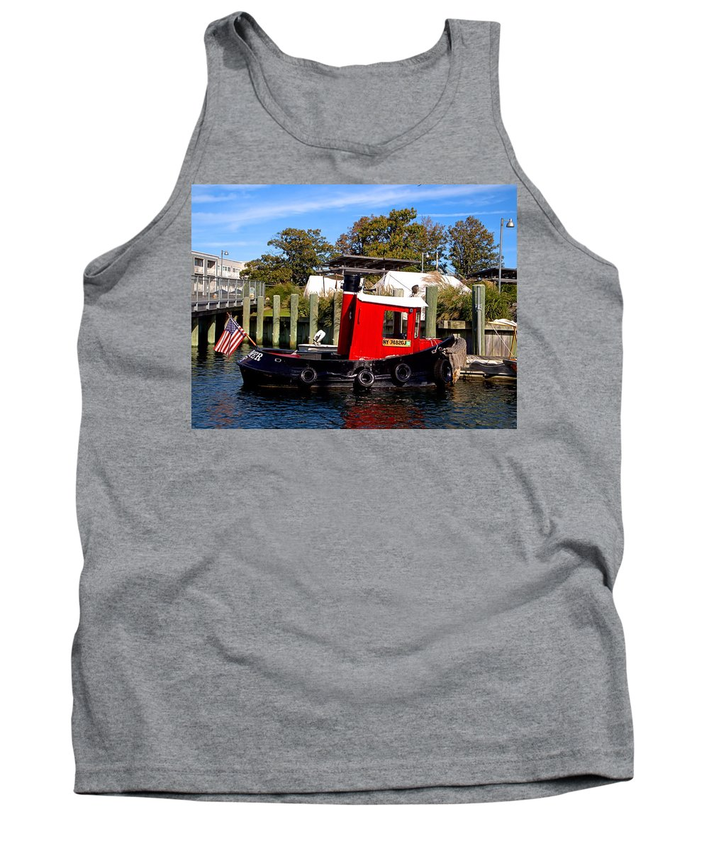 Tug Tank Top featuring the photograph Baby Tug by Newwwman