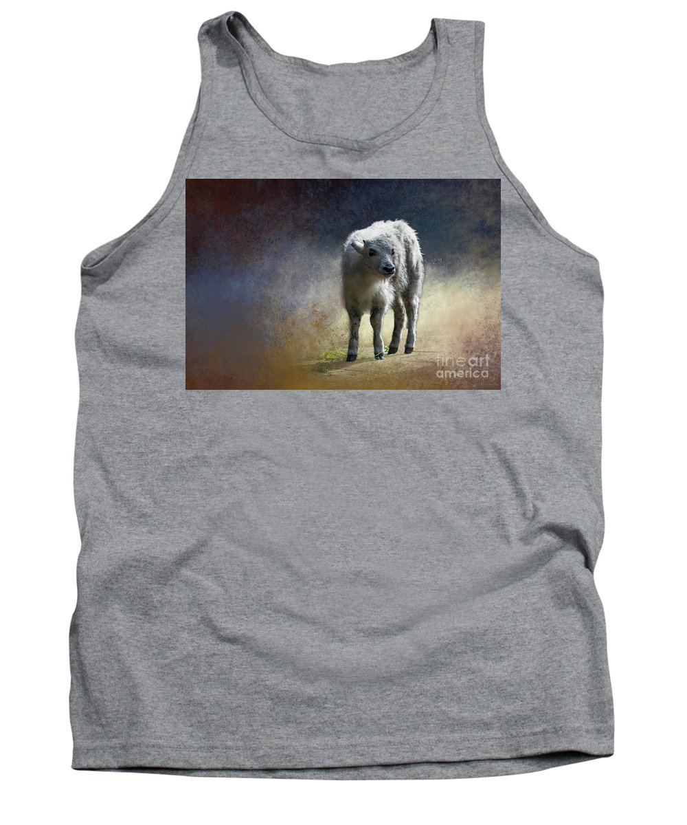 Yak Tank Top featuring the photograph Baby Yak by Eva Lechner