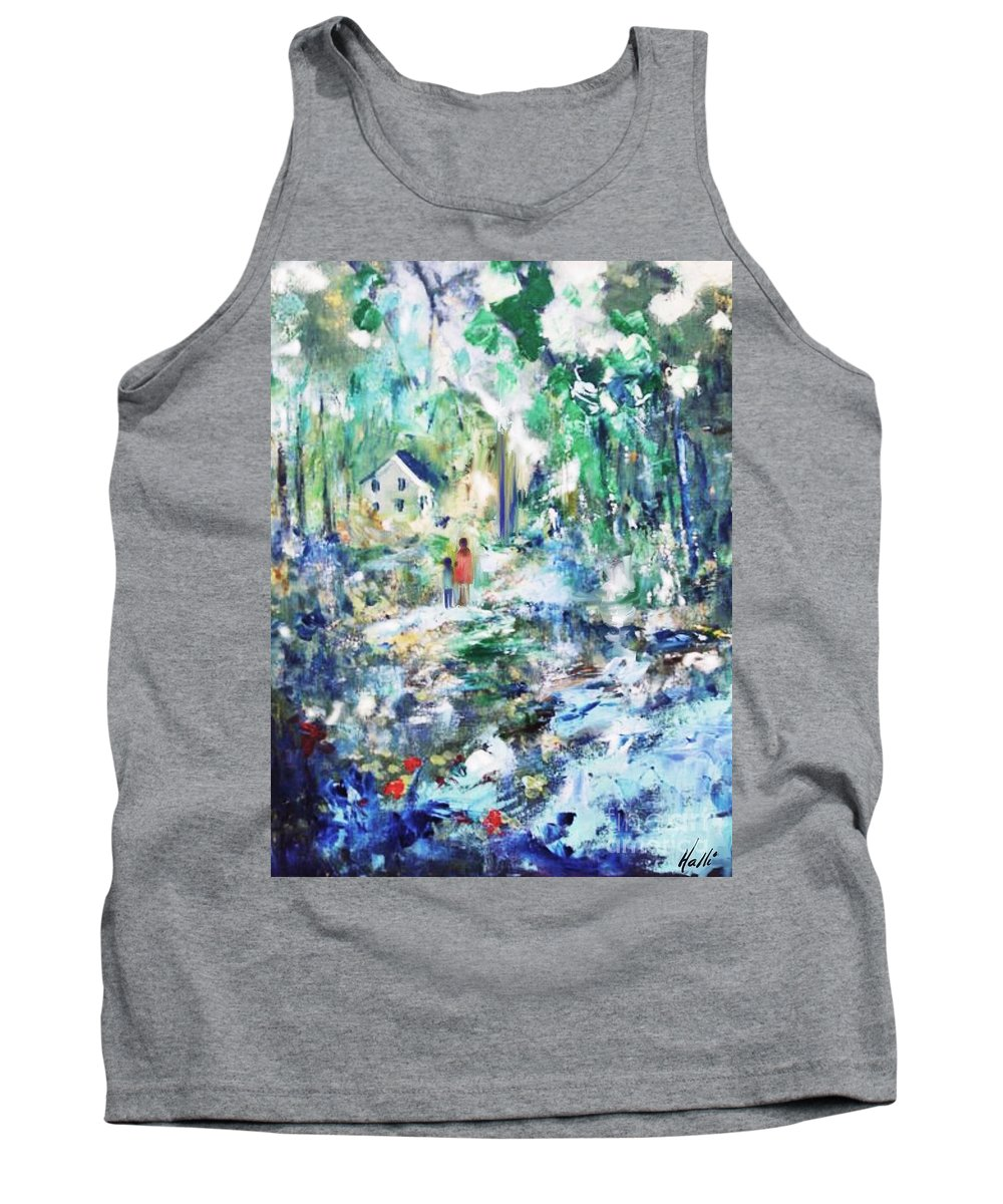 Back Home Tank Top featuring the painting Back Home by Aline Halle-Gilbert