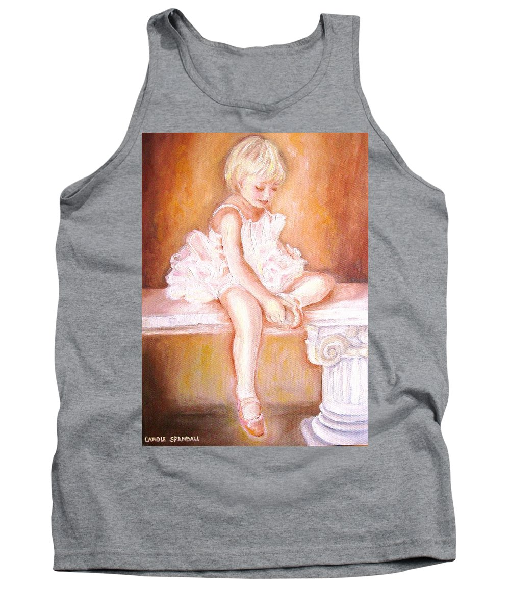 Ballerina Tank Top featuring the painting Ballerina by Carole Spandau
