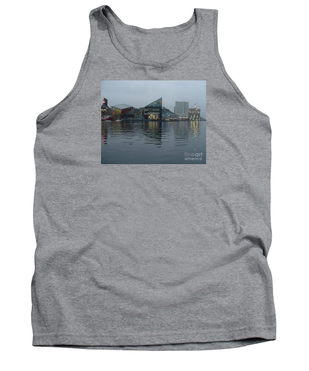 Baltimore Tank Top featuring the photograph Baltimore Harbor Reflection by Carol Groenen