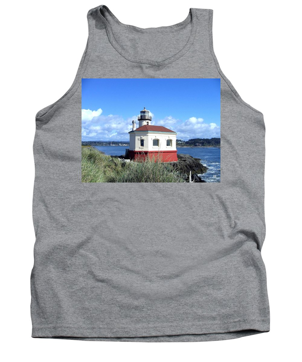 Coquille Lighthouse Tank Top featuring the photograph Bandon 1 by Will Borden