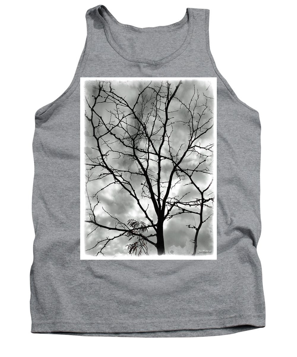 Tree Tank Top featuring the photograph Bare Til Spring by Joan Minchak