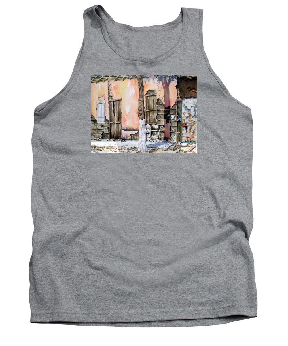 Lanscape Tank Top featuring the painting Bareque II by Tatiana Escobar