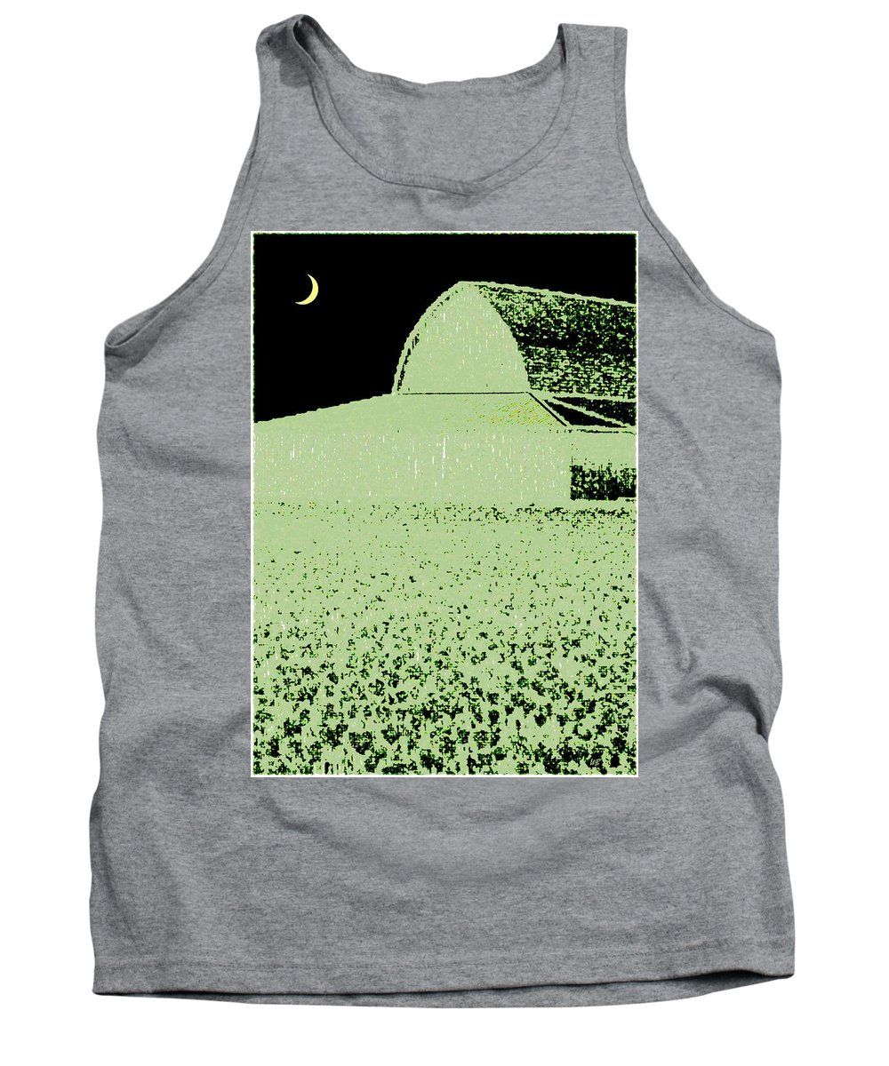 Abstract Tank Top featuring the digital art Barn Abstract by Will Borden