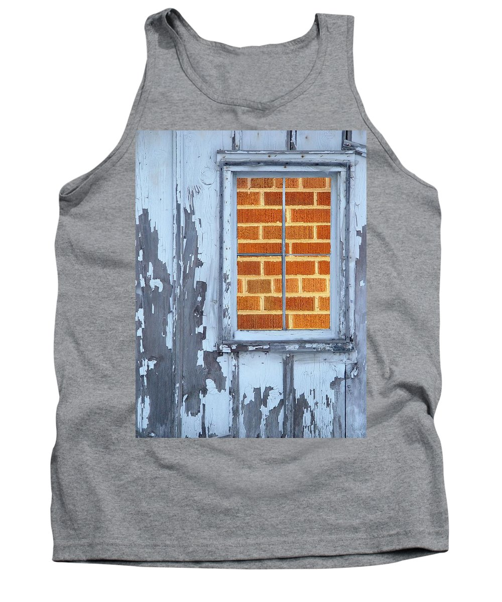 Barn Tank Top featuring the photograph Barn Brick Window by Tim Allen