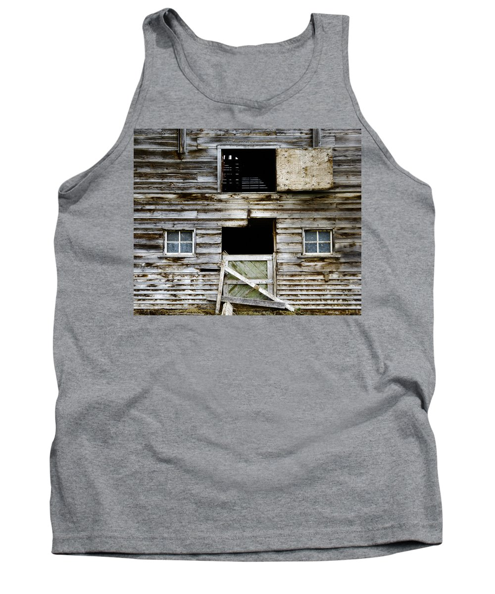 Barn Tank Top featuring the photograph Barn Side by Wayne Sherriff