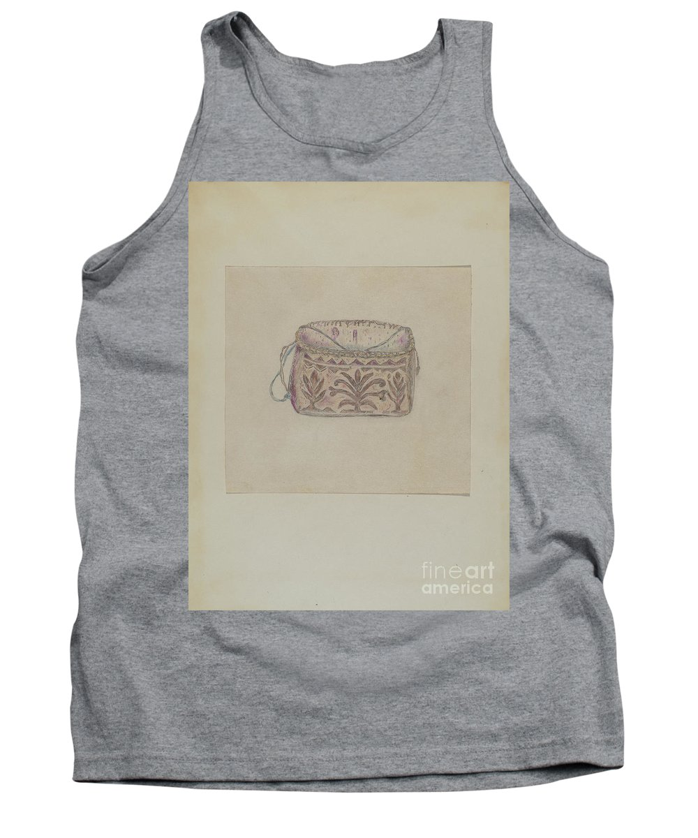 Tank Top featuring the drawing Basket by Mary Berner