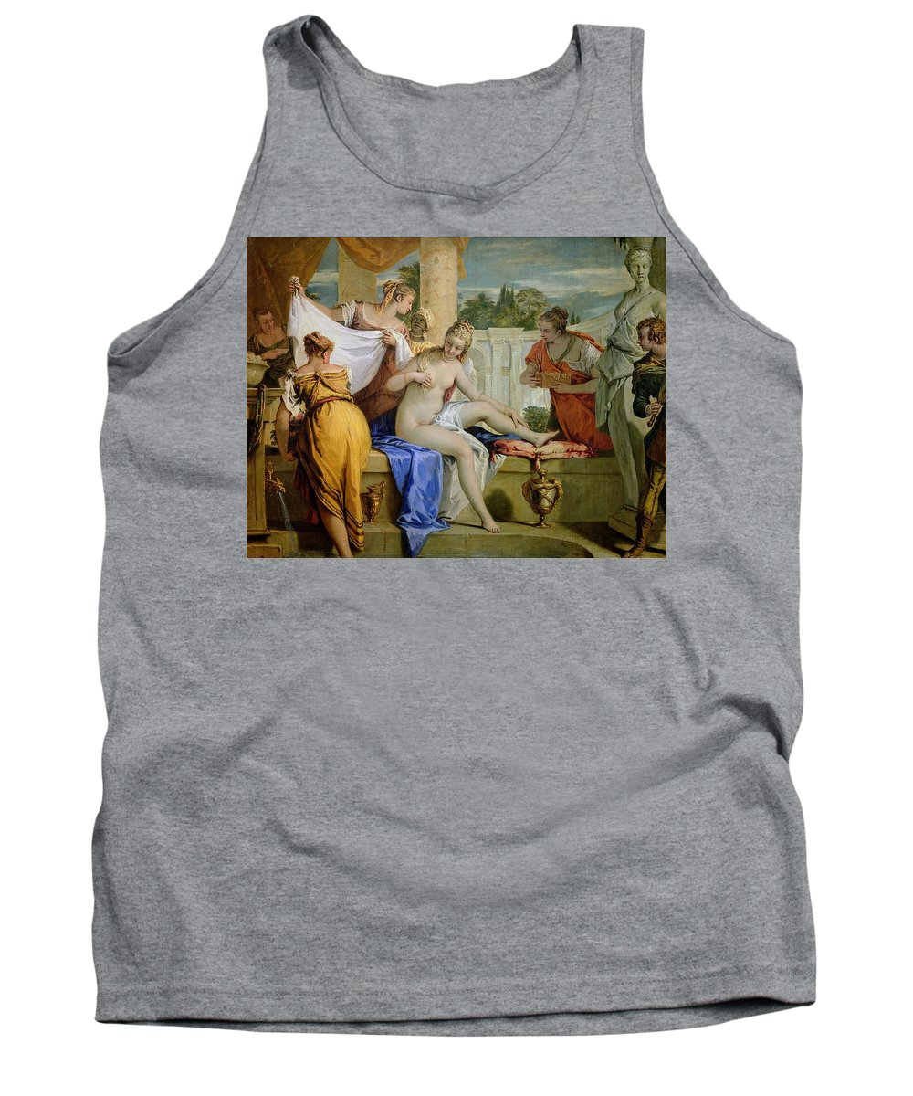 Bathsheba Tank Top featuring the painting Bathsheba Bathing by Sebastiano Ricci