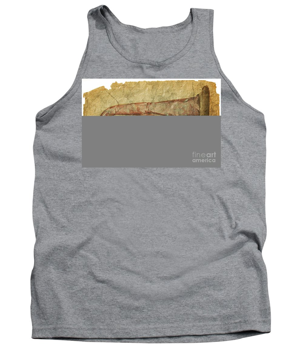 Grunge Tank Top featuring the photograph Battered Old Trumpet by Michal Boubin