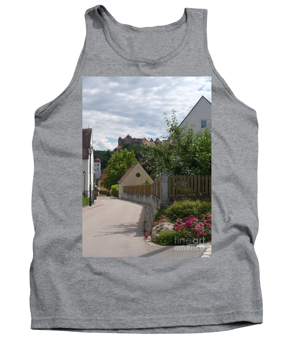 Castle Tank Top featuring the photograph Bavarian Village With Castle View by Carol Groenen