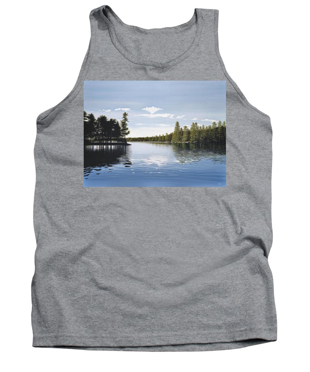 Landscapes Tank Top featuring the painting Bay On Lake Muskoka by Kenneth M Kirsch