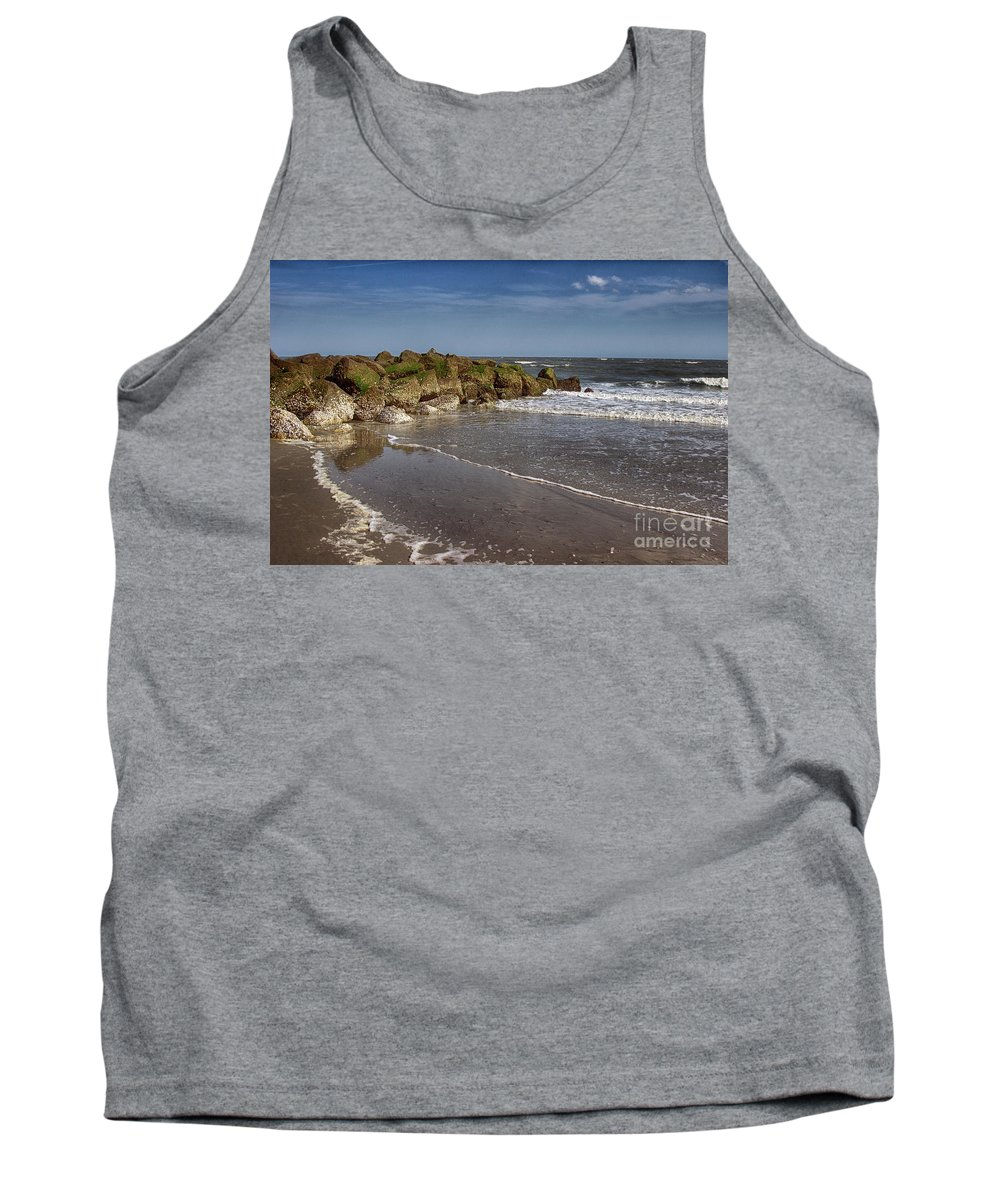 Tybee Island Tank Top featuring the photograph Beach At Tybee by Tom Gari Gallery-Three-Photography