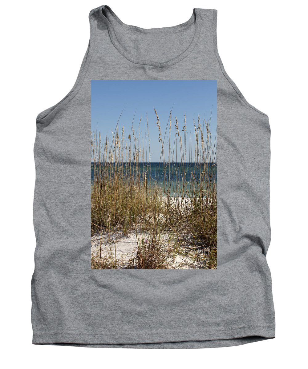 Dune Tank Top featuring the photograph Beach Dune by Anthony Totah