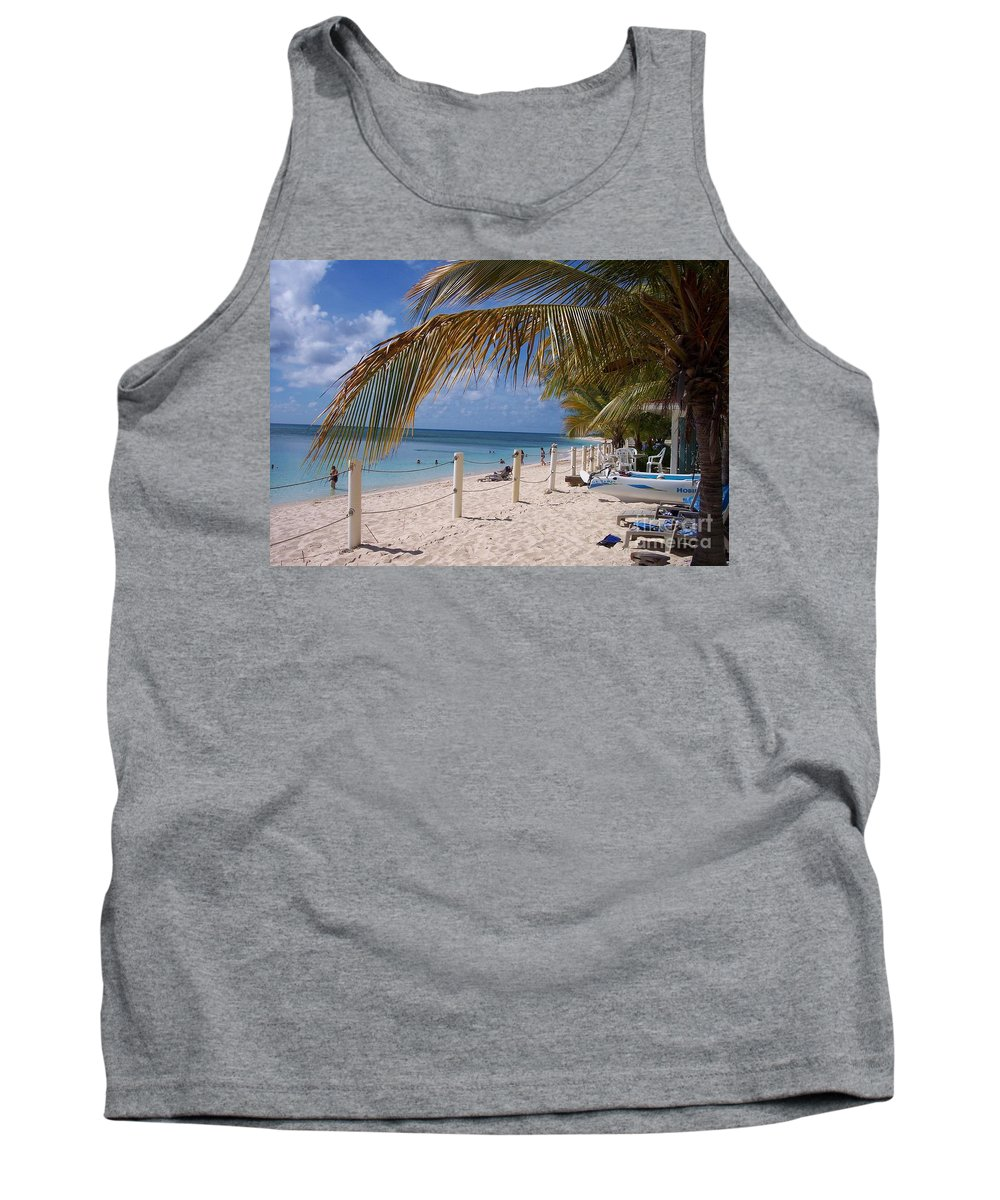 Beach Tank Top featuring the photograph Beach Grand Turk by Debbi Granruth