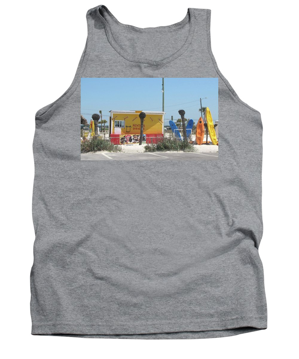 Beach Tank Top featuring the photograph Beach Rentals by Michelle Powell