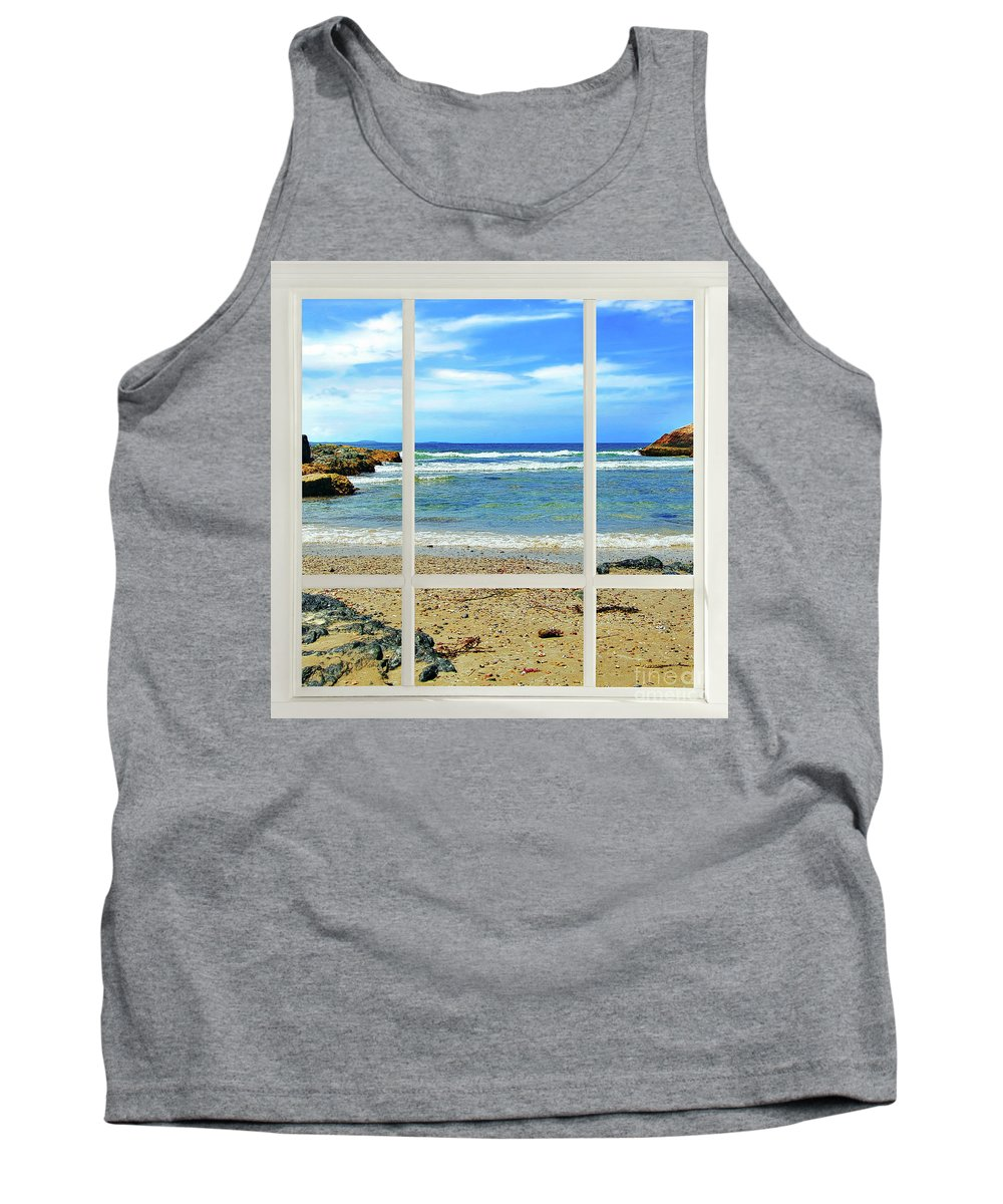 Photography Tank Top featuring the photograph Beach View From Your Living Room Window by Kaye Menner