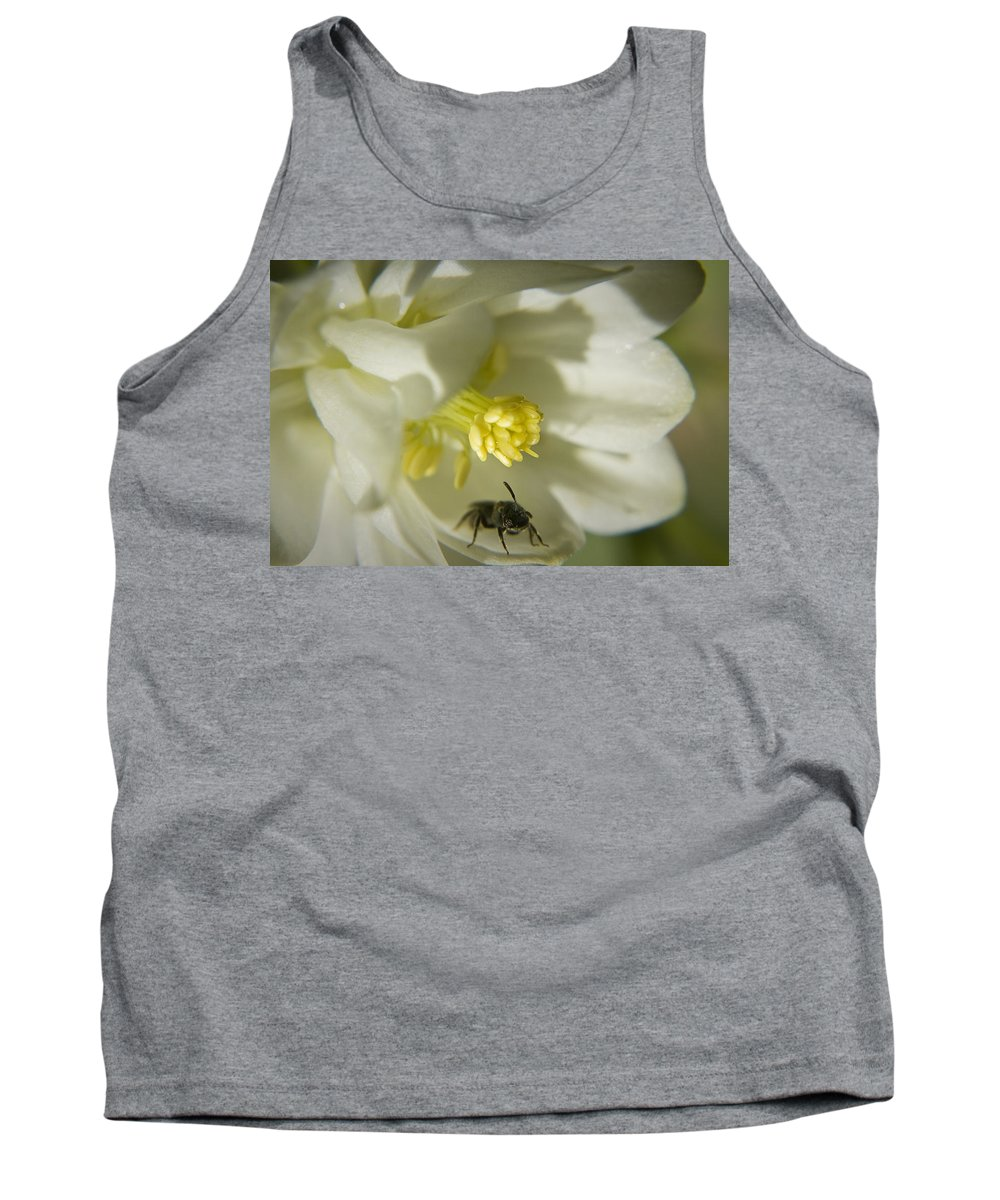 Columbine Tank Top featuring the photograph Bee Mine by Teresa Mucha
