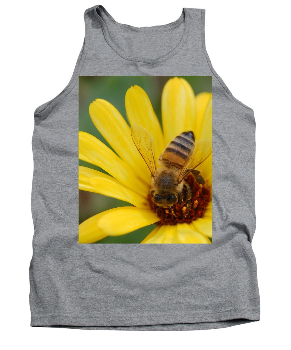 Bee Tank Top featuring the photograph Bee On Flower by Amy Fose