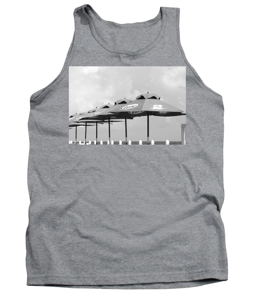 Black And White Tank Top featuring the photograph Beer Unbrellas by Rob Hans