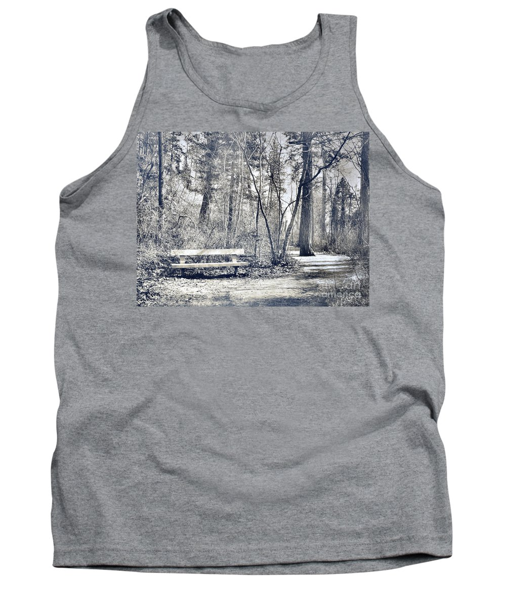 Monotone Tank Top featuring the photograph Benched by Tara Turner