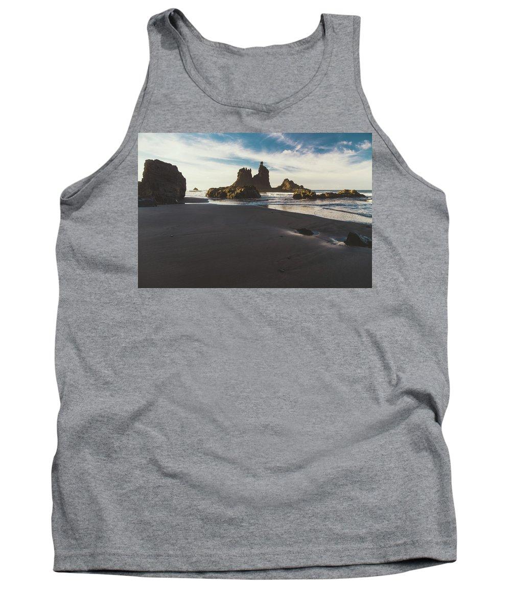 Roques De Anaga Tank Top featuring the photograph Benijo Beach by Alex Polo