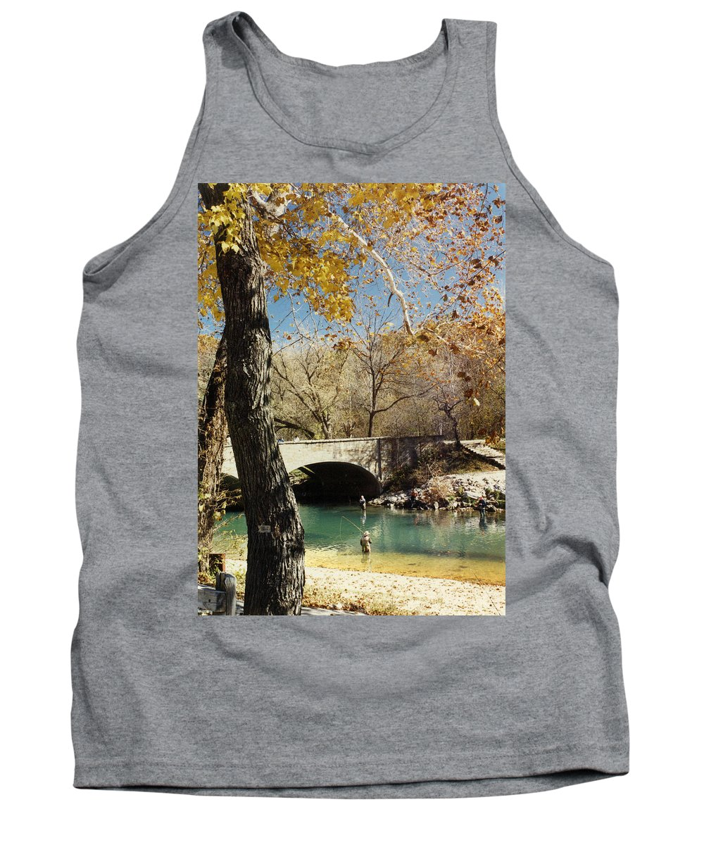 Landscape Tank Top featuring the photograph Bennet Springs by Steve Karol