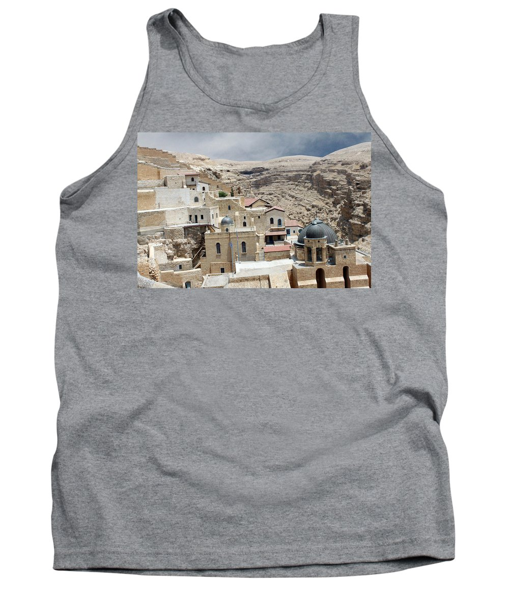 Bethlehem Tank Top featuring the photograph Bethlehem - Mar Saba Monstary1 by Munir Alawi