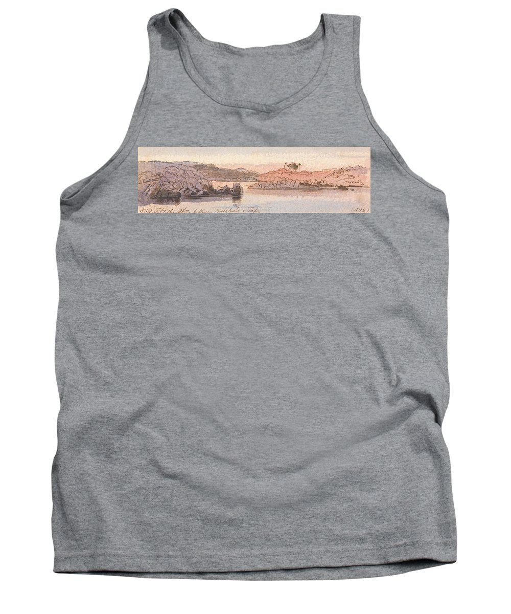 English Art Tank Top featuring the drawing Between Kalabshee And Tafa by Edward Lear