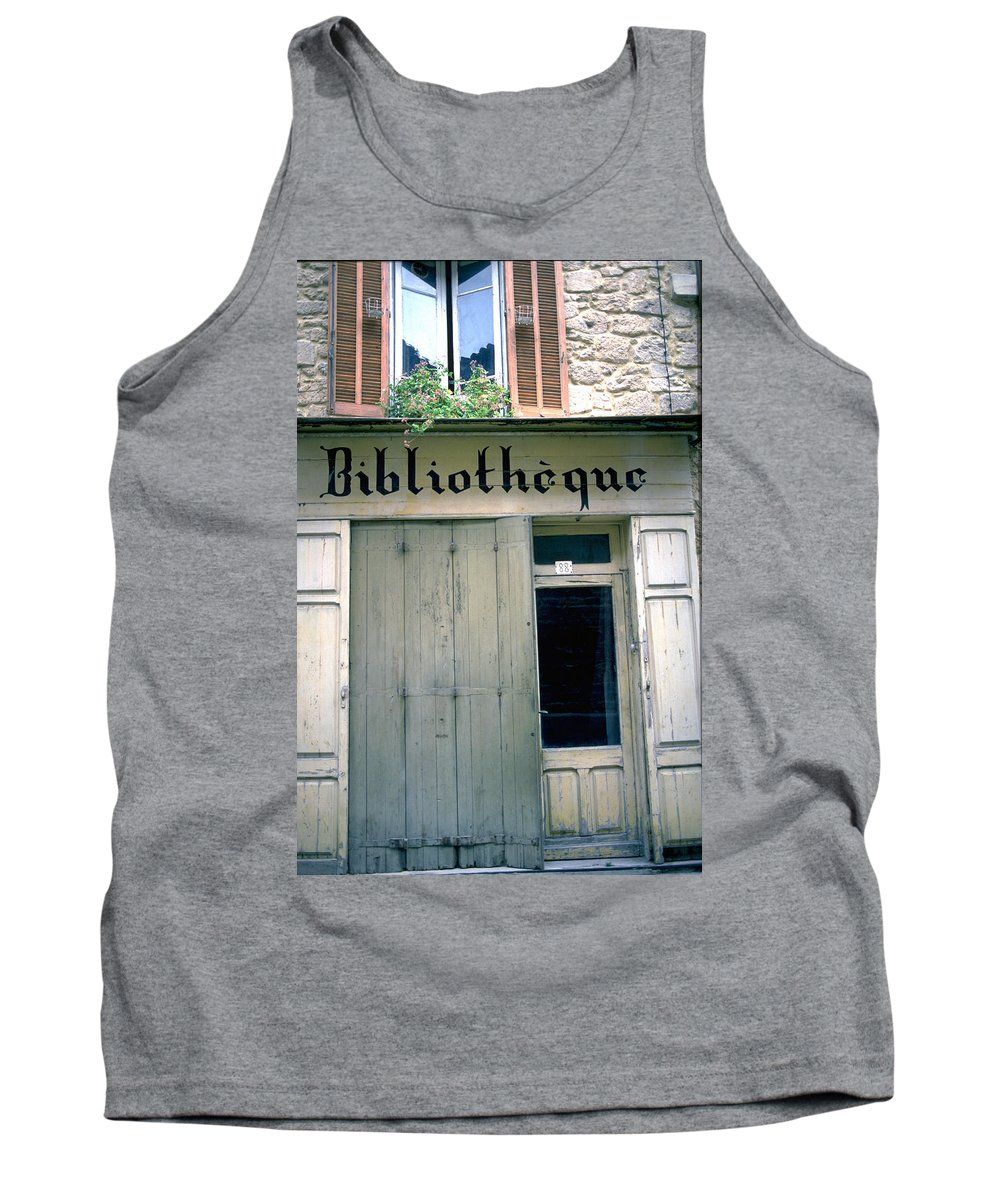 Bibliotheque Tank Top featuring the photograph Bibliotheque by Flavia Westerwelle